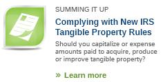 capitalization vs. repair regulations