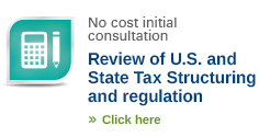 Review of US and state tax structuring