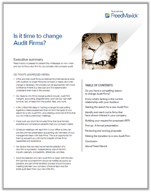 change your auditor cover