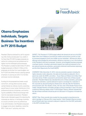 FY2015 budget proposals 1