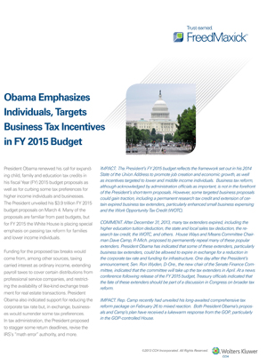 FY2015 budget proposals 1