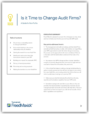 Guide for Changing Your Not for Profit Auditor Firm