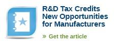 R&D Credit for Manufacturers - Buffalo CPA